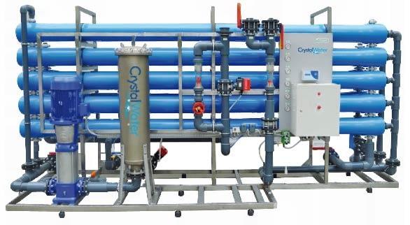 Priemyselná reverzná osmóza s výkonom do 32m³ demineralizovanej vody za hodinu.