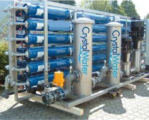 Priemyselná reverzná osmóza s výkonom do 28m³ demineralizovanej vody za hodinu.
